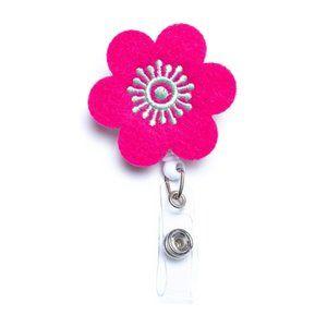 Flower | Nurse and Teacher Badge Reel Holder